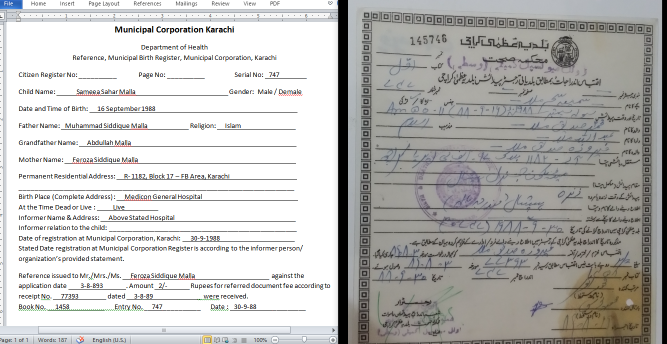 Birth Certificate Translation In Urdu Or English With Accuracy
